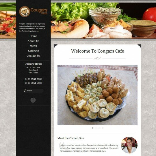 Cafe web design Perth