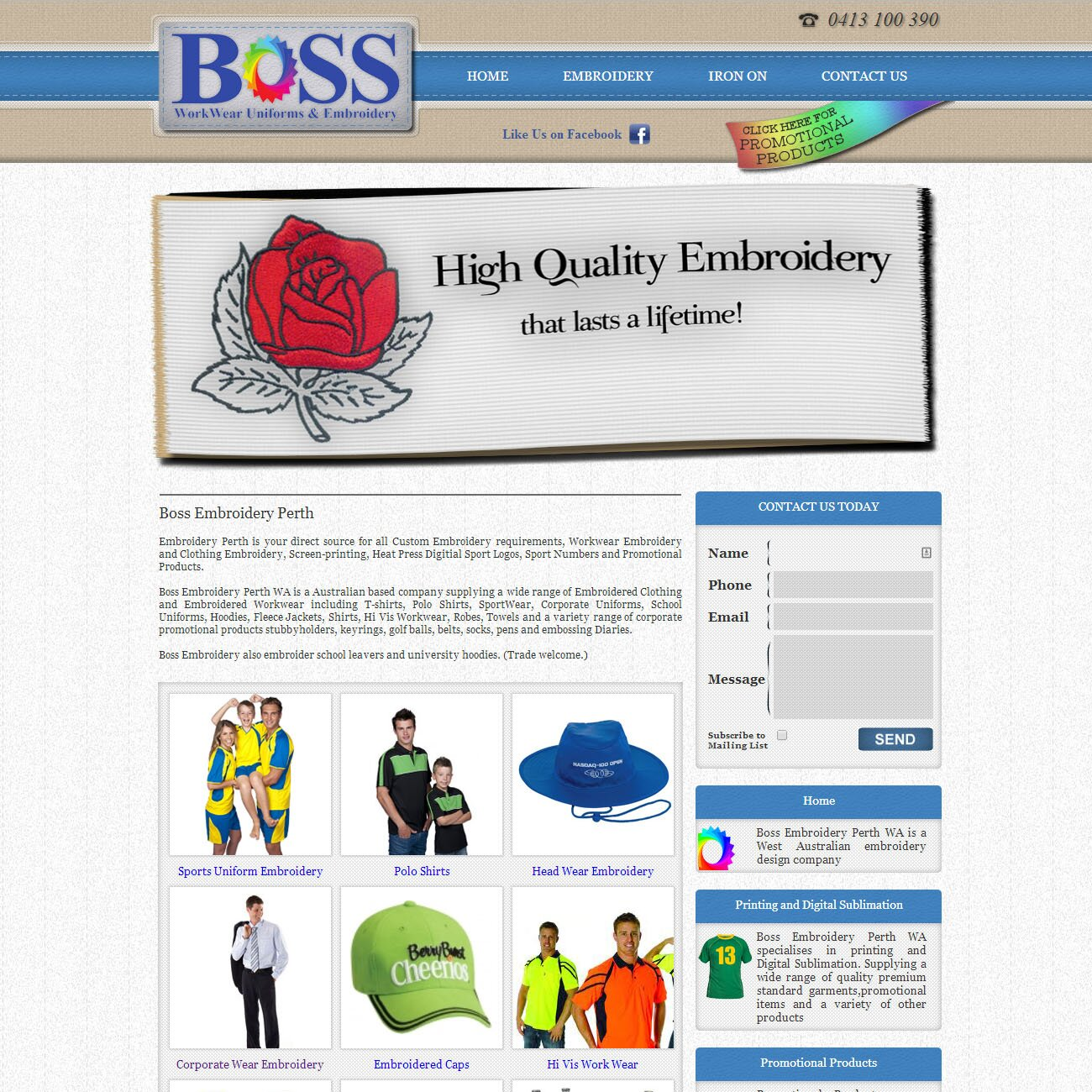 Embroidery business Perth